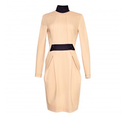 Dress with black collar