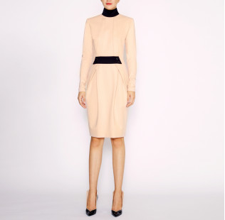 Dress with black collar small - 5