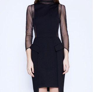 Strict sexy dress with transparent sides small - 2