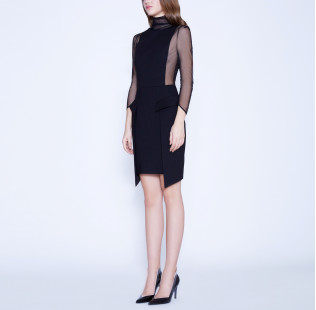 Strict sexy dress with transparent sides small - 4