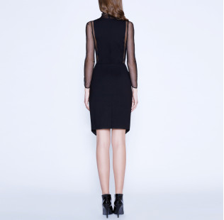 Strict sexy dress with transparent sides small - 3