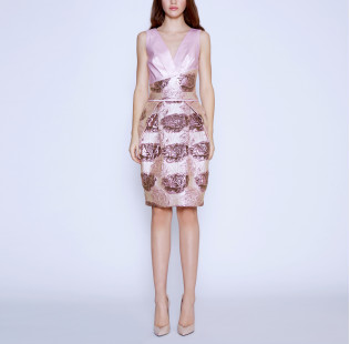 Cocktail jacquard dress small - 5