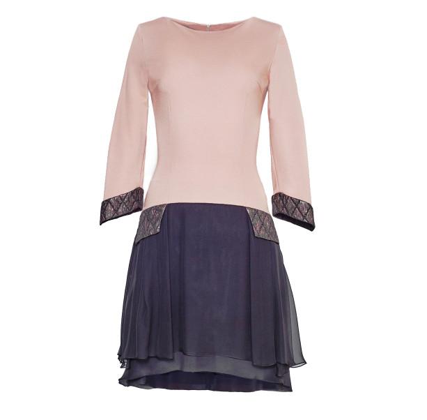 Dress with silk skirt - 1