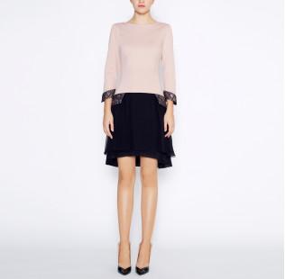 Dress with silk skirt small - 5