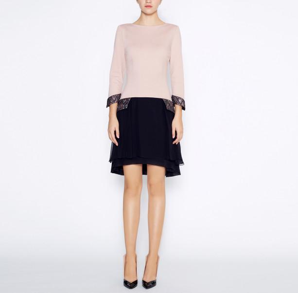 Dress with silk skirt - 5