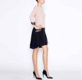 Dress with silk skirt small - 4