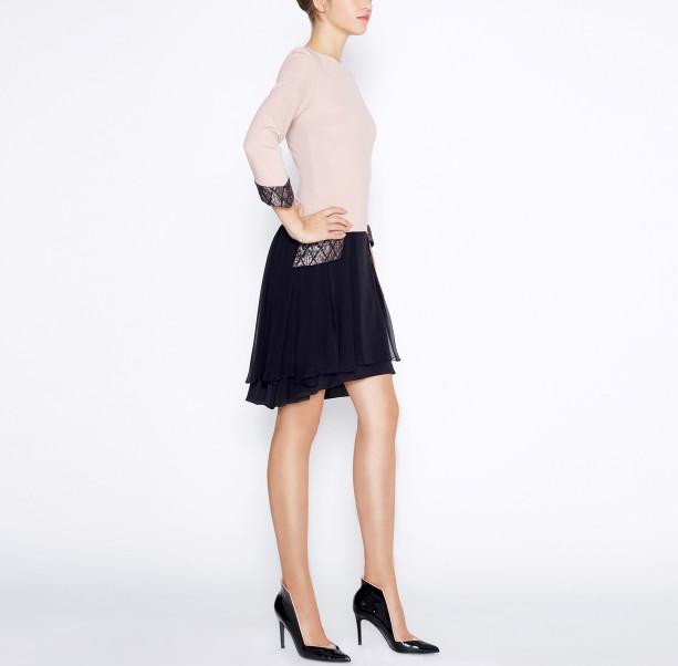 Dress with silk skirt - 4