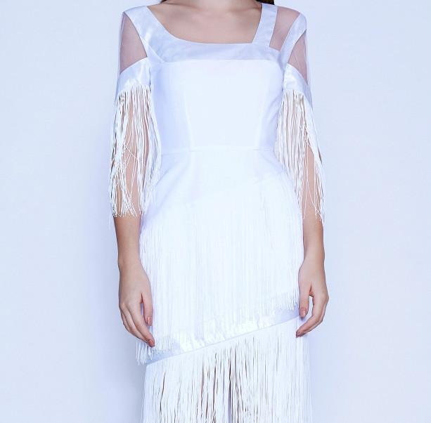 Art Nouveau fringe dress - 2