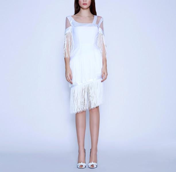 Art Nouveau fringe dress - 6