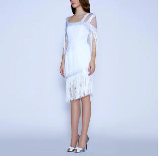 Art Nouveau fringe dress small - 4
