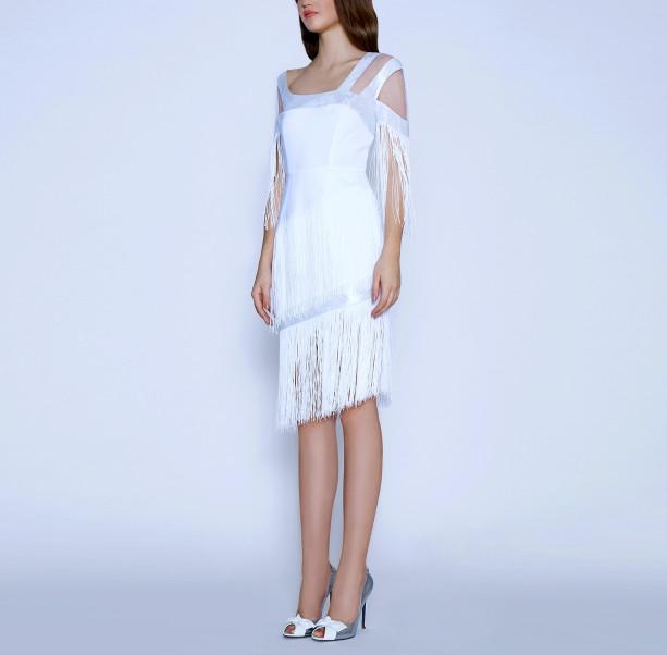 Art Nouveau fringe dress - 4