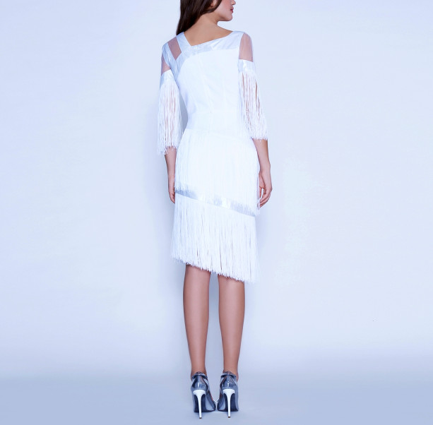 Art Nouveau fringe dress - 3