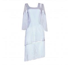 Art Nouveau fringe dress