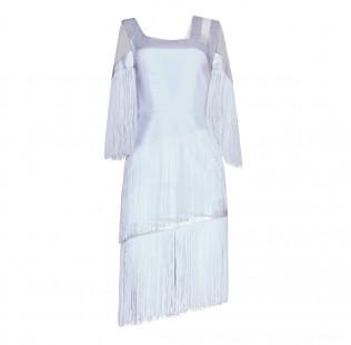 Art Nouveau fringe dress small - 1