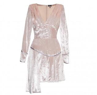Pink velvet dress small - 1
