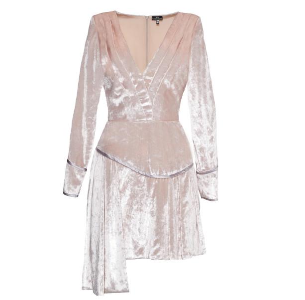 Pink velvet dress - 1