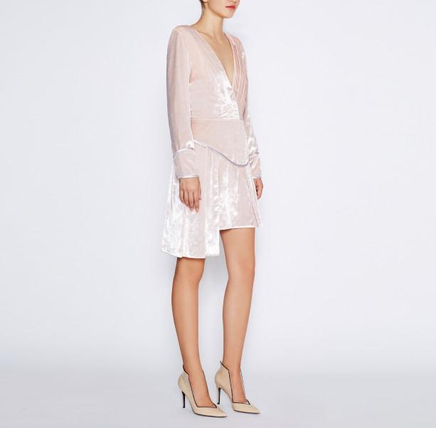 Pink velvet dress - 5
