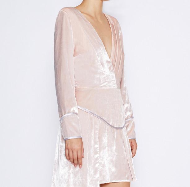 Pink velvet dress - 2