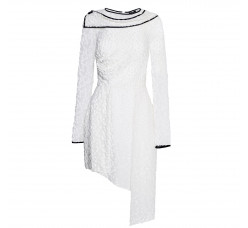 Asymmetrical white dress