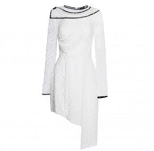 Asymmetrical white dress small - 1