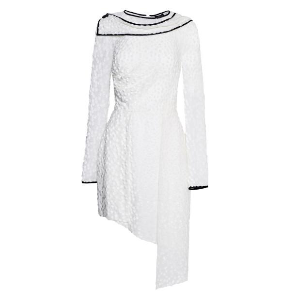 Asymmetrical white dress - 1