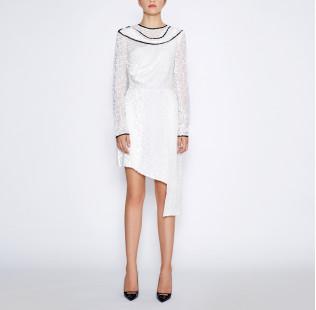 Asymmetrical white dress small - 5