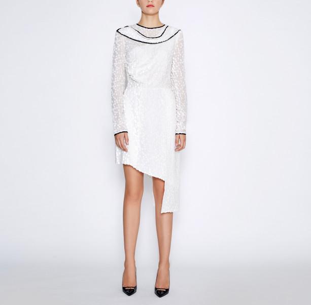 Asymmetrical white dress - 5