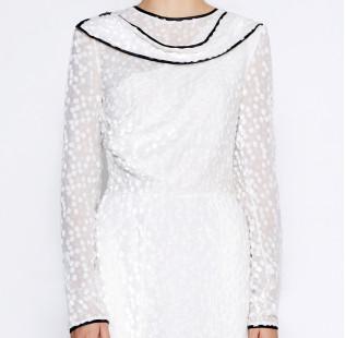 Asymmetrical white dress small - 2