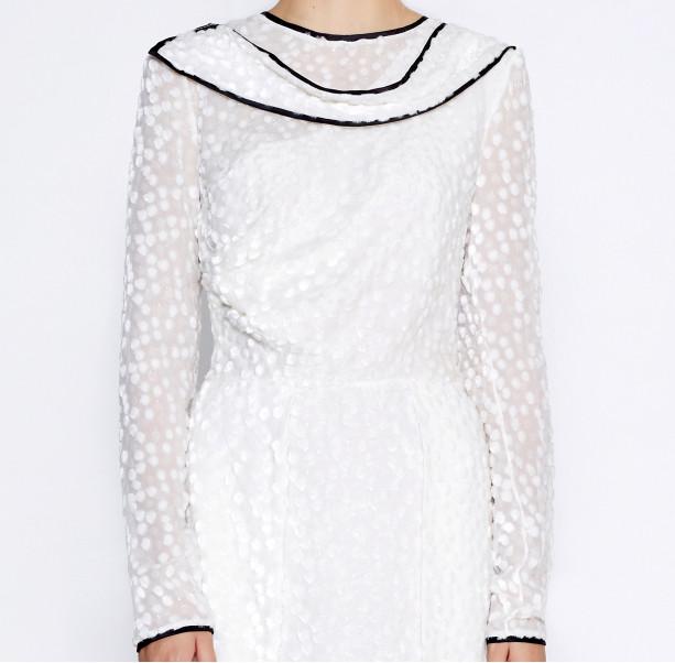 Asymmetrical white dress - 2