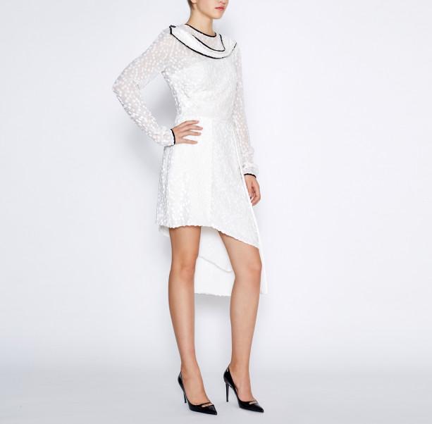 Asymmetrical white dress - 4