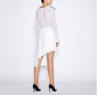 Asymmetrical white dress small - 3