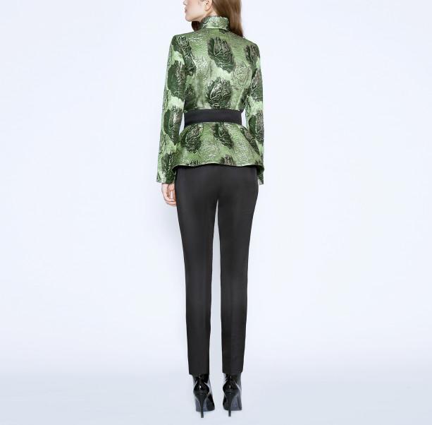 Brocade jacket with silk belt - 3