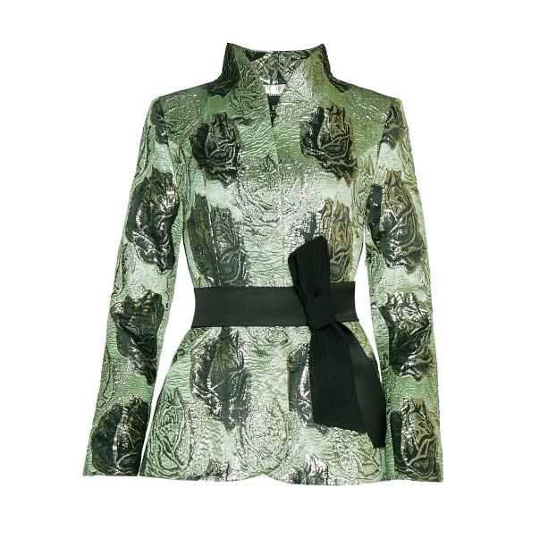 Brocade jacket with silk belt - 1