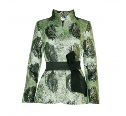 Brocade jacket with silk belt