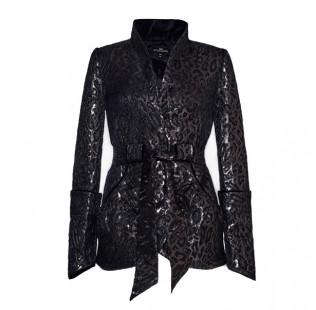 Leopard jacquard jacket small - 1