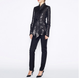 Leopard jacquard jacket small - 5