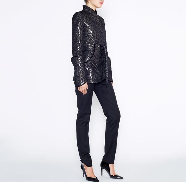 Leopard jacquard jacket - 4