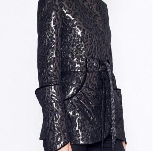 Leopard jacquard jacket small - 2