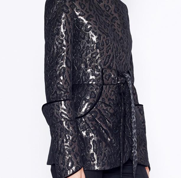 Leopard jacquard jacket - 2