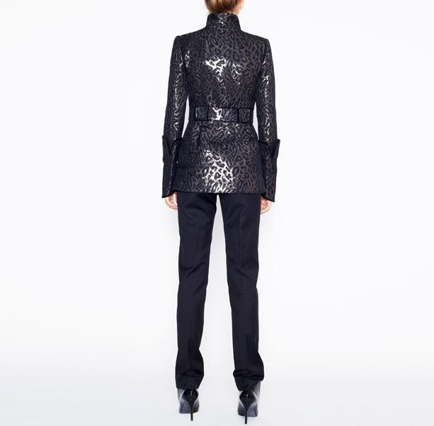 Leopard jacquard jacket - 3