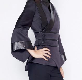 Black kimono jacket small - 2