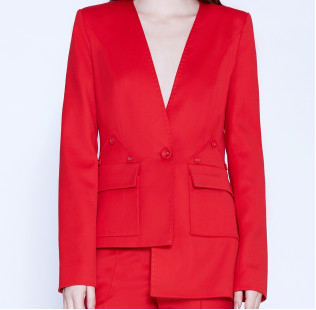 Asymmetric suit with buttons small - 2