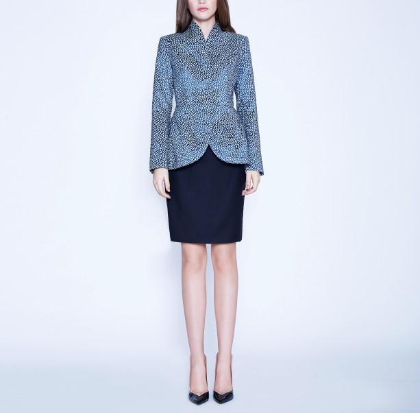 Light blue jacquard jacket - 6