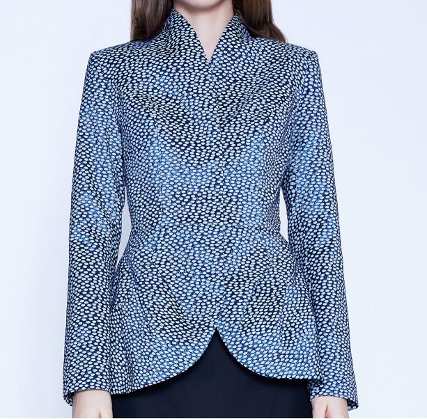 Light blue jacquard jacket - 2