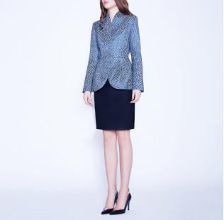 Light blue jacquard jacket small - 4