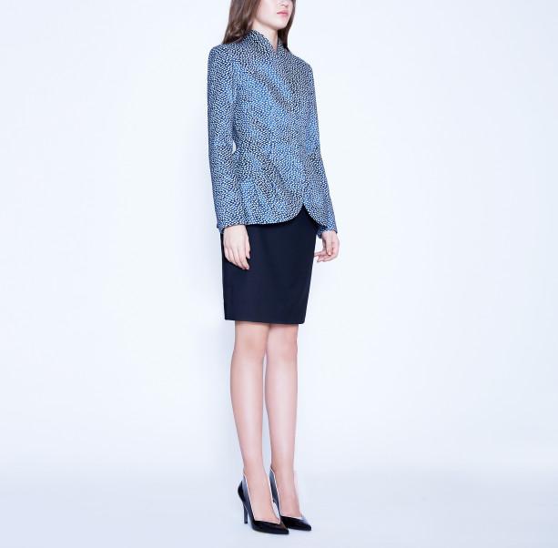 Light blue jacquard jacket - 5