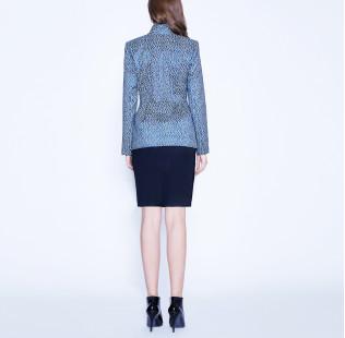 Light blue jacquard jacket small - 3