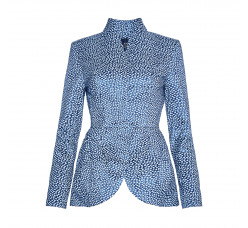 Light blue jacquard jacket