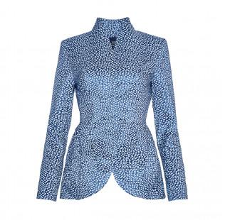 Light blue jacquard jacket small - 1