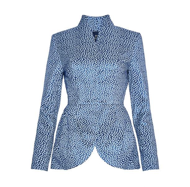 Light blue jacquard jacket - 1